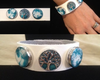 NOOSA SNAP CUFF with interchangeable Resin Snap Chunks