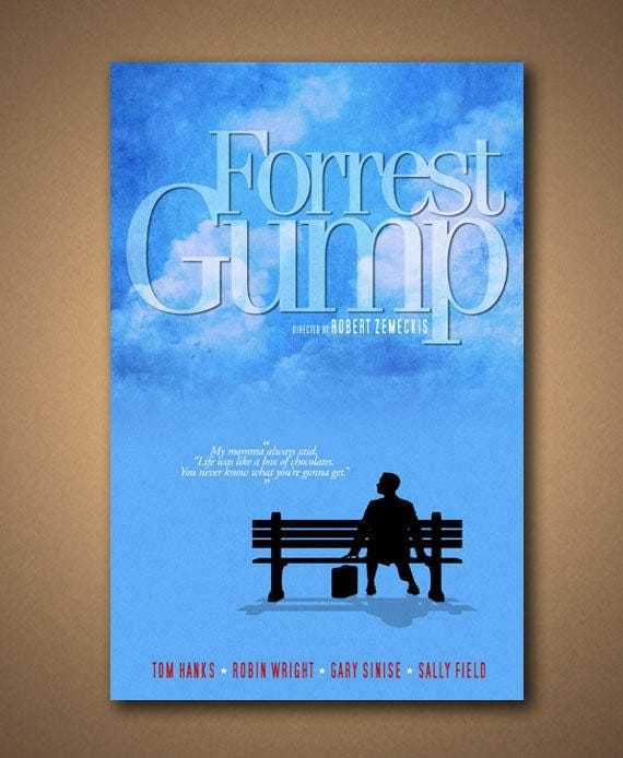 Forrest Gump Quotes Mama Always Said: FORREST GUMP Momma Quote Poster