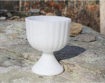 Vintage Milk Glass Vase/Candy Bowl