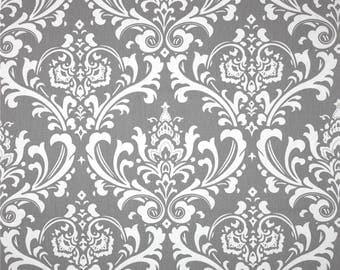 Handmade Curtain Valance 50W x 15L in Grey/White Osborne Print, Home Decor