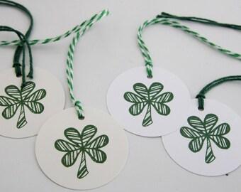 Wedding Favor Shamrock Gift Tag Set of Ten, Shamrock Wine Tags, St. Patrick's Day Decorations, Celtic Wedding Decor, Celtic Tags, Irish Tags