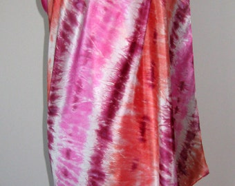 Pure Silk Sarong - Beach Cover Up, Shawl Wrap – Hand Painted.