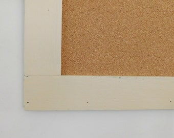 24 x36 FRAMED CORK BOARD - Wedding Decor -Bulletin Board - Message Board - Farmhouse Decor - Shown in Cream - Choose Color