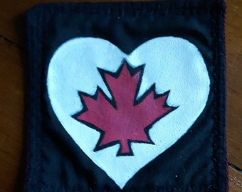 Maple Leaf Heart Patch