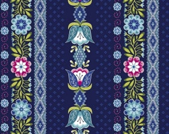 Juxtaposey Posey Stripe Navy Riley Blake Fabric