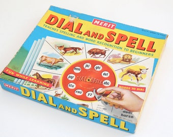 Vintage Dial and Spell game by Merit, 1960