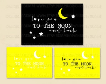 """I Love You to the Moon and Back Banner - all 3 options included - 36""""x24""""- 16061"""