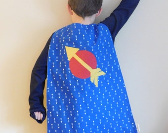 Kids Super Hero Cape with Arrow// Print Cape