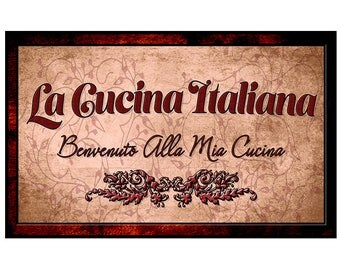 la cucina italiana welcome italian kitchen decor for your home or business mounted and