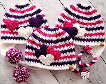 Crochet Pattern - Valentine's Day Set - Girl/Women