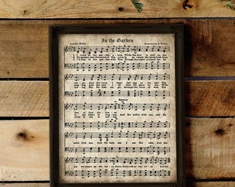 Sheet Music Wall Art amazing grace print printable vintage sheet music instant