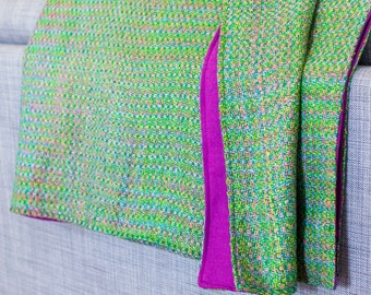 Green and Pink Spring Blanket
