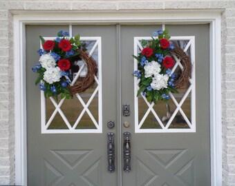 Pair of Americana Wreaths