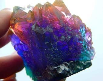 Windowsill ornament resin amethyst, soft grunge moonchild witchy iridescent holographic, tyedye, sacredspace