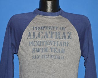80s Property of Alcatraz Swim Team t-shirt Small