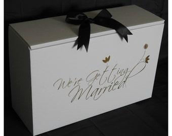 Wedding dress box etsy for Acid free box for wedding dress