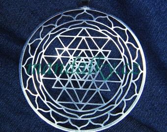Sri Yantra pendant (1 3/4 inch) - Stainless Steel