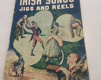 Vintage irish songs jigs and reels folio sheet music.