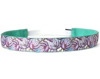 Women's Yoga Headband. Non-Slip Headband. Workout headband. Fitness Headband. Running Headband. Best Headband. Big Blooms Headband