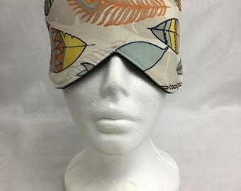 Feathers Cotton Sleep Mask and Case Set, Eye Mask, Travel Mask