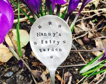 Personalised Vintage Spoon Plant Garden Markers. Hand Stamped Recycled Spoon Herb Marker, Gardeners Gift, Housewarming Gift,