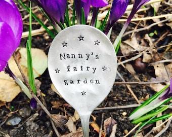 Personalised Vintage Spoon Plant Garden Markers. Handstamped Recycled Spoon Herb Marker, Gardener Gift, Housewarming Gift, Personalised Gift