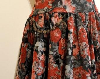 Long Skirt mori black red grey