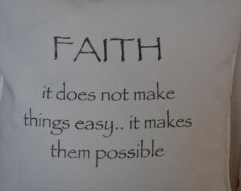 Handmade Faith Pillow