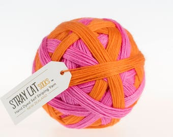 RETRO CANDY - vibrant hand dyed self striping sock yarn