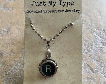 Vintage Typewriter Key Necklace - R