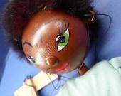Rare 1940s PELHAM PUPPET in Original Brown Cardboard Box Black Girl