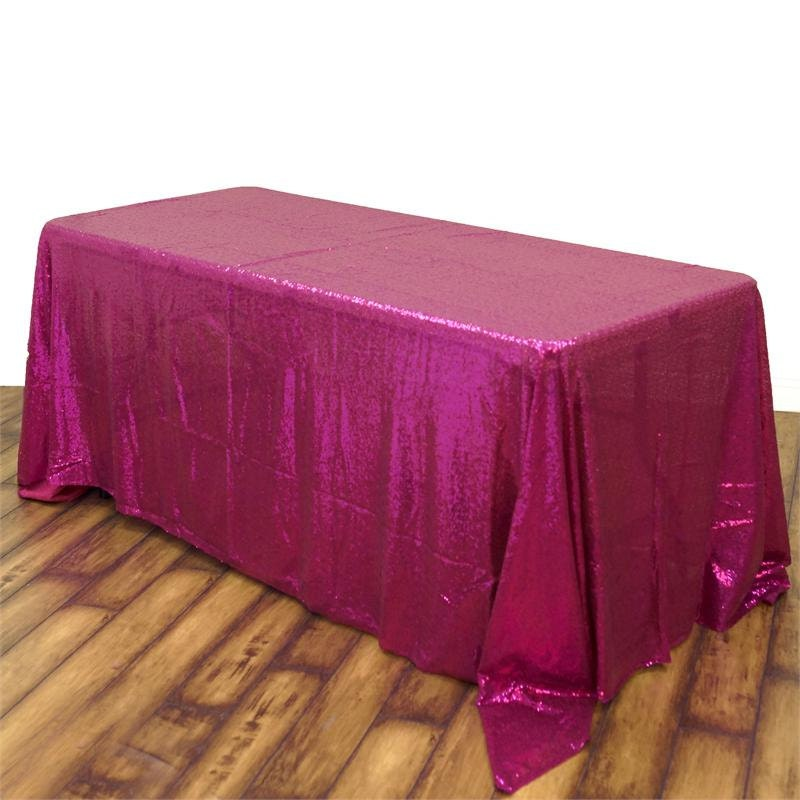 Hot Pink Sequin Tablecloth Rectangle By Revelrypartycompany