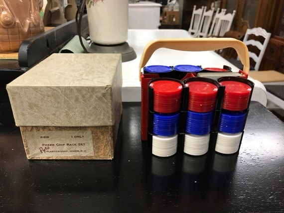 Poker chip rack set