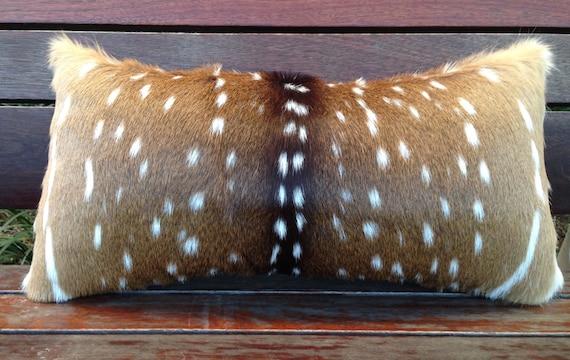 Faux Deer Hide Pillows : Axis deer hide pillow