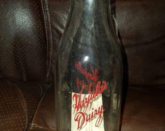 Vintage Glass Harjula's Dairy Milk Bottle
