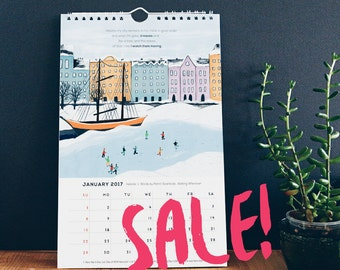 SALE! - Soul of the City - 2017 Wall Calendar | Each page features a painting of a city and a quote from a writer about that place