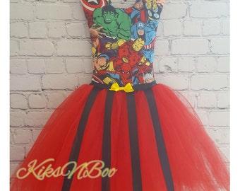Superhero Tutu Hair Bow Holder - Avengers Hair Bow Holder - Dress Hair Bow Holder - Hair Bow Organizer - Super Hero Girls Room Decor