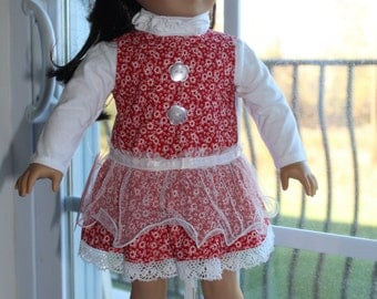 Red and White and Ready For Spring Jumper/Sundress Set