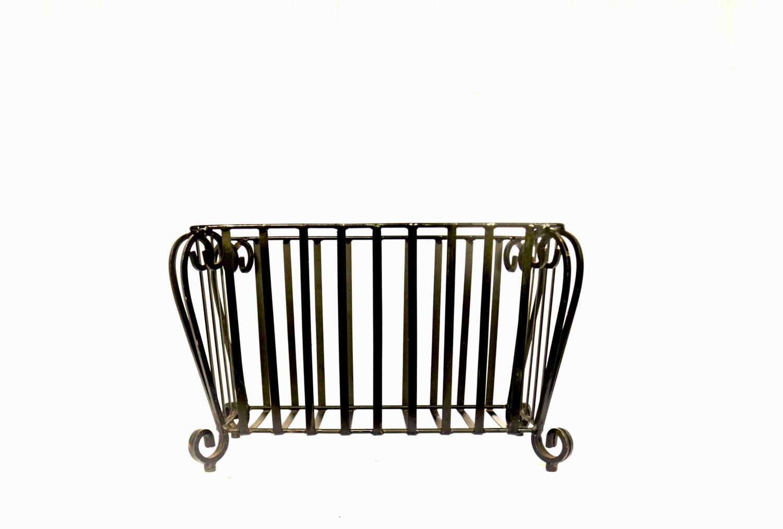 vintage metal planter iron plant stand rod iron planter. Black Bedroom Furniture Sets. Home Design Ideas