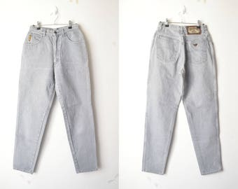 ARMANI gray high waist mom jeans 80s // sz. 30