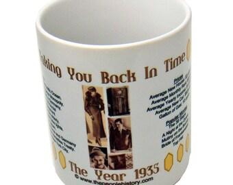 1935 Taking You Back In Time Coffee Mug