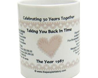 1987 30th Anniversary Mug - Celebrating 30 Years Together