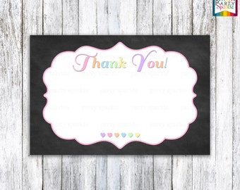 INSTANT DOWNLOAD - Sweetheart Valentine's Birthday / Baby Shower Thank You Card - Digital Printable 4x6 JPG file