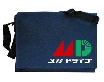 Mega Drive Tribute Japanese MD Colours Navy Blue Messenger Shoulder Bag