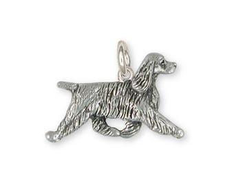 Springer Spaniel Charm Jewelry Sterling Silver Handmade Dog Charm SS8-C