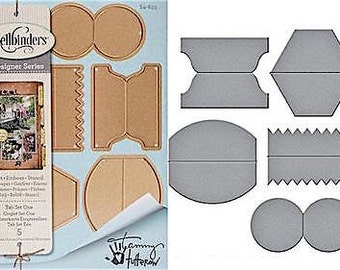 Spellbinders TAB SET ONE  Designer Series Cutting Dies S4-633 1.cc53