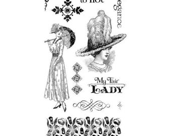 Graphic 45 OFF To The RACES 3 Cling Stamps IC0370S cc55