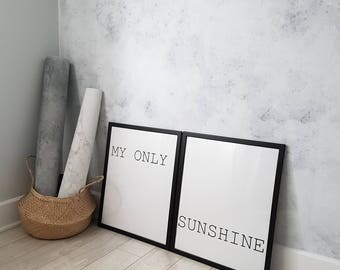 Pre-order * MY ONLY SUNSHINE, you are my sunshine, my only sunshine, scandinavian design, nursery wall decor, nursery decor, nursery print