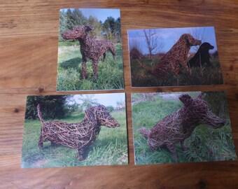 Willow Dog Sculpture Dog Card Pack
