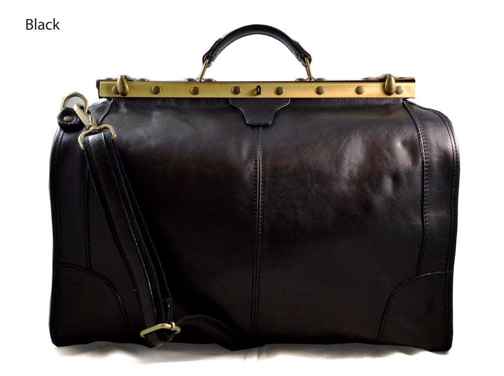 Leather Doctor Bag Mens Travel Bag Womens Cabin Luggage Bag